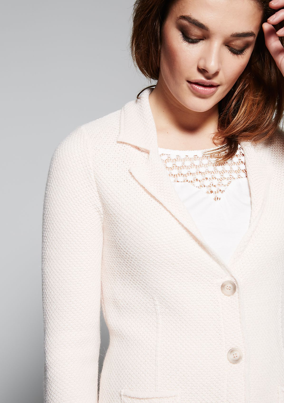 Soft cardigan with a beautiful pattern from s.Oliver