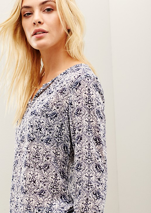 Delicate chiffon blouse with a sophisticated all-over print from s.Oliver