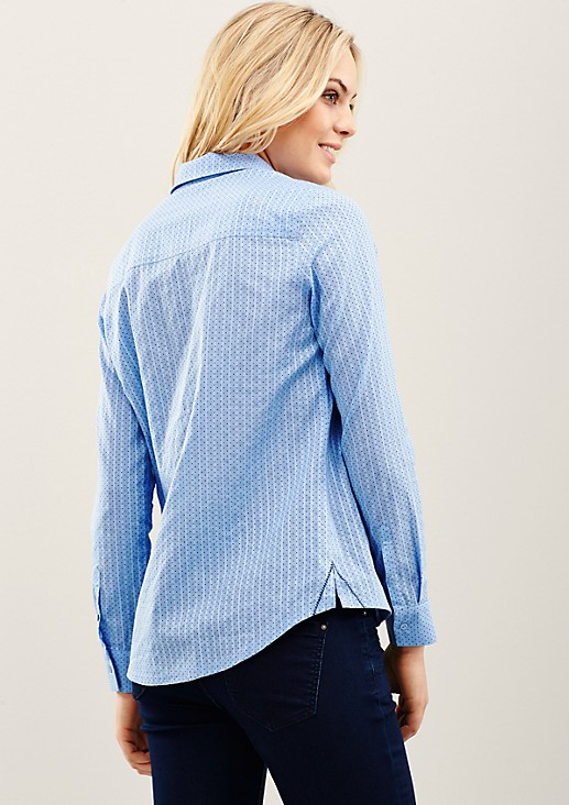 Feminine blouse with a fine pattern from s.Oliver