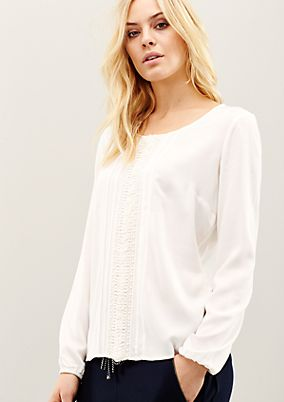Glamorous long sleeve blouse with sophisticated details from s.Oliver