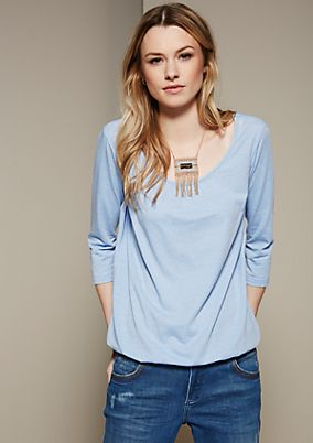 Sporty top with 3/4-length sleeves from s.Oliver
