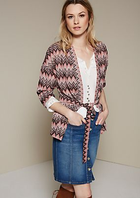 Extravagant cardigan with 3/4-length sleeves and a fascinating pattern from s.Oliver