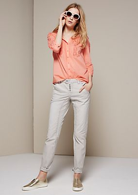 Cute blouse with 3/4-length sleeves and sophisticated lace inserts from s.Oliver