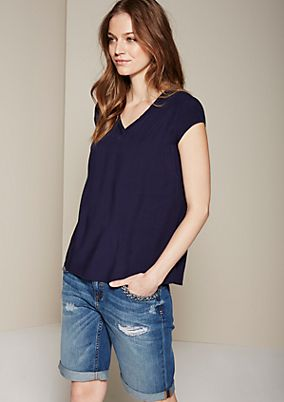 Casual summer blouse with fine details from s.Oliver