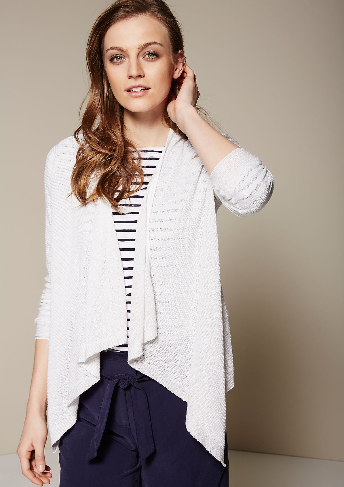 Lightweight cardigan with sophisticated details from s.Oliver