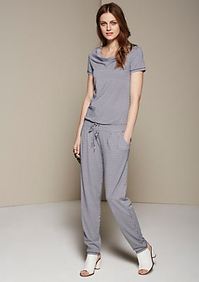 Feminine jumpsuit with a lovely all-over pattern from s.Oliver