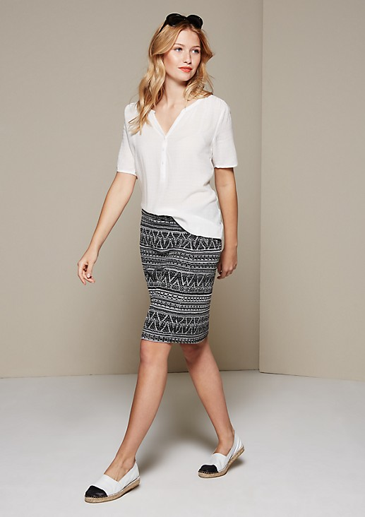 Lightweight summer blouse with a sophisticated tonal pattern from s.Oliver