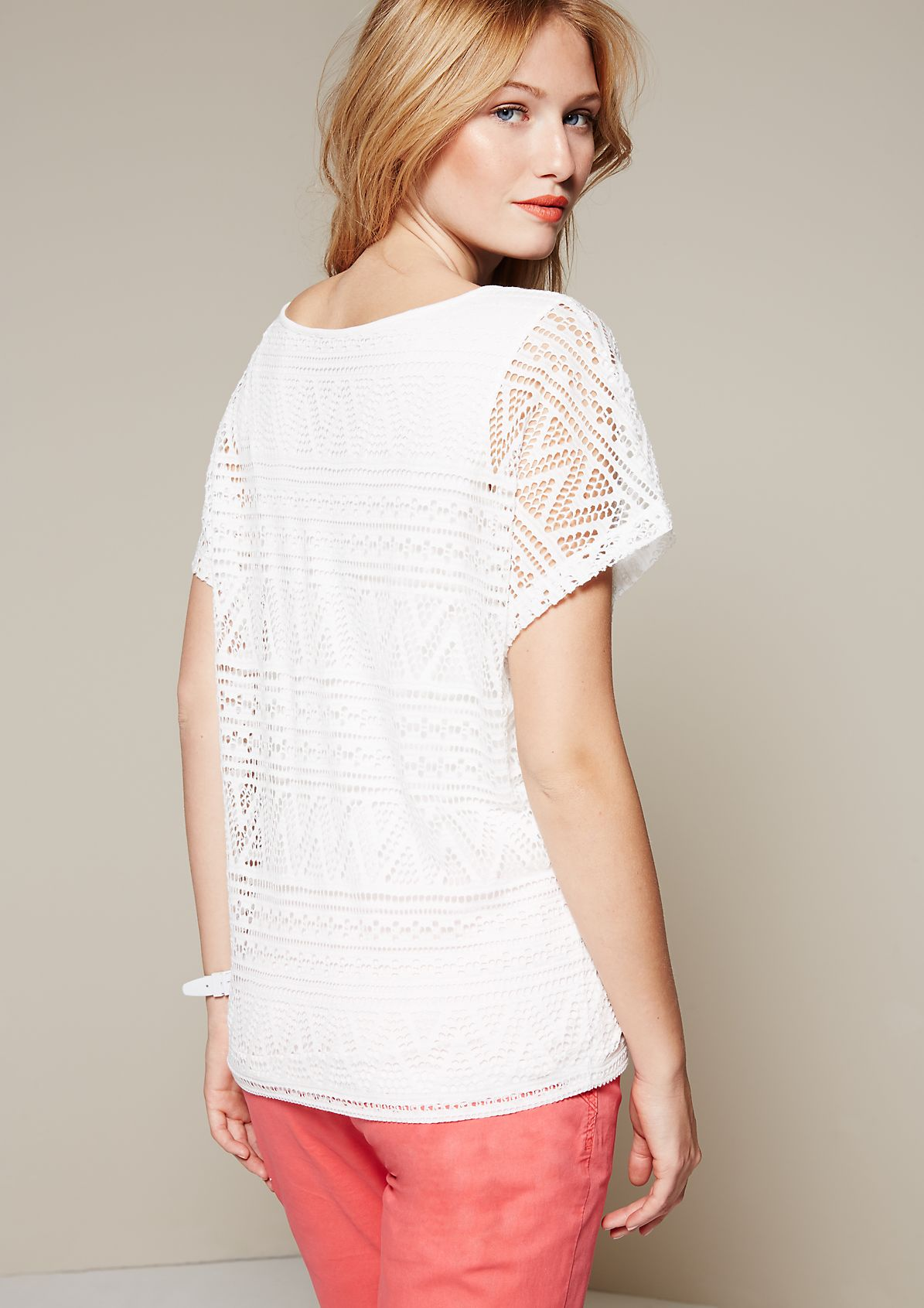 Glamorous lace top with fabulous details from s.Oliver