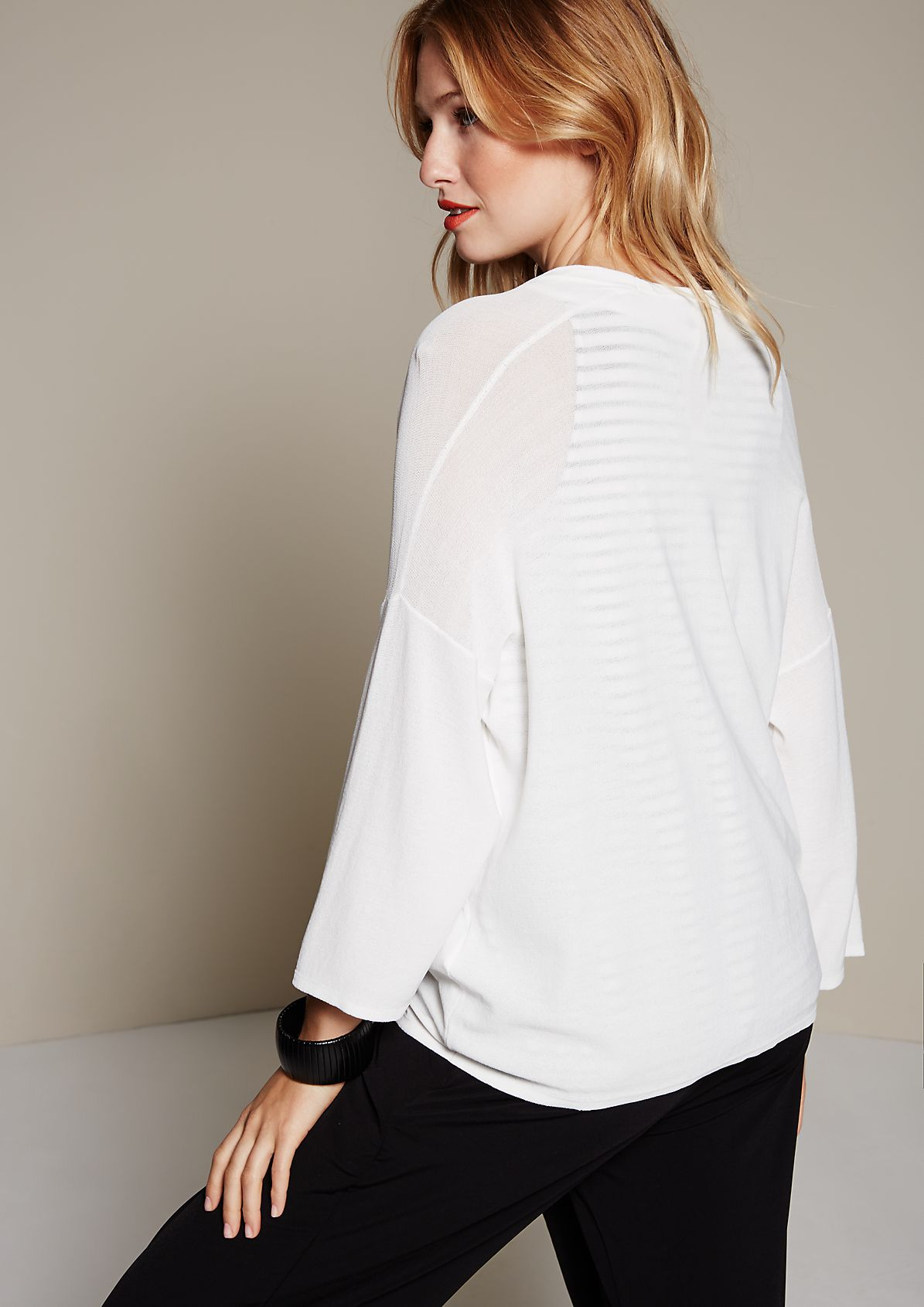 Relaxed cardigan with 1/2-length sleeves from s.Oliver