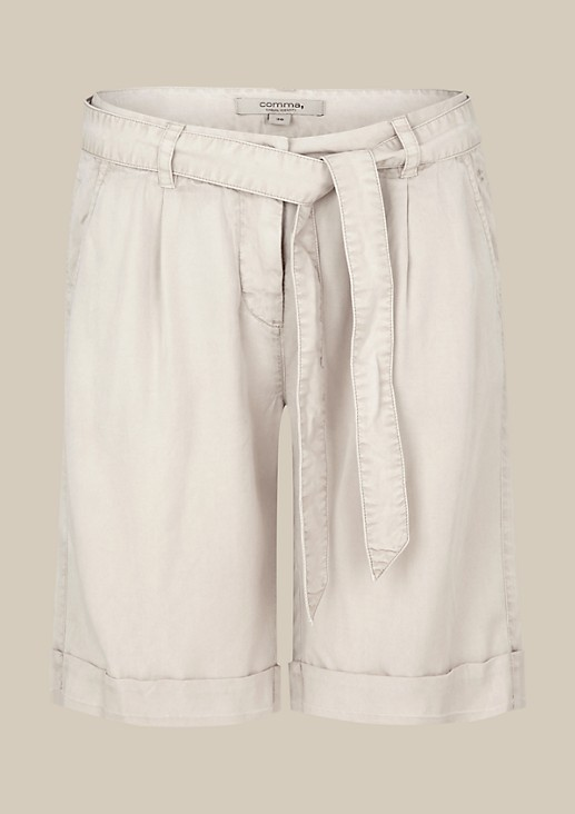 Sporty shorts with a fabric belt from s.Oliver
