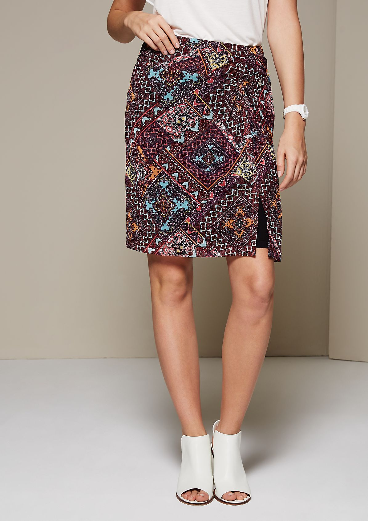 Delicate mesh skirt with a wrap effect from s.Oliver