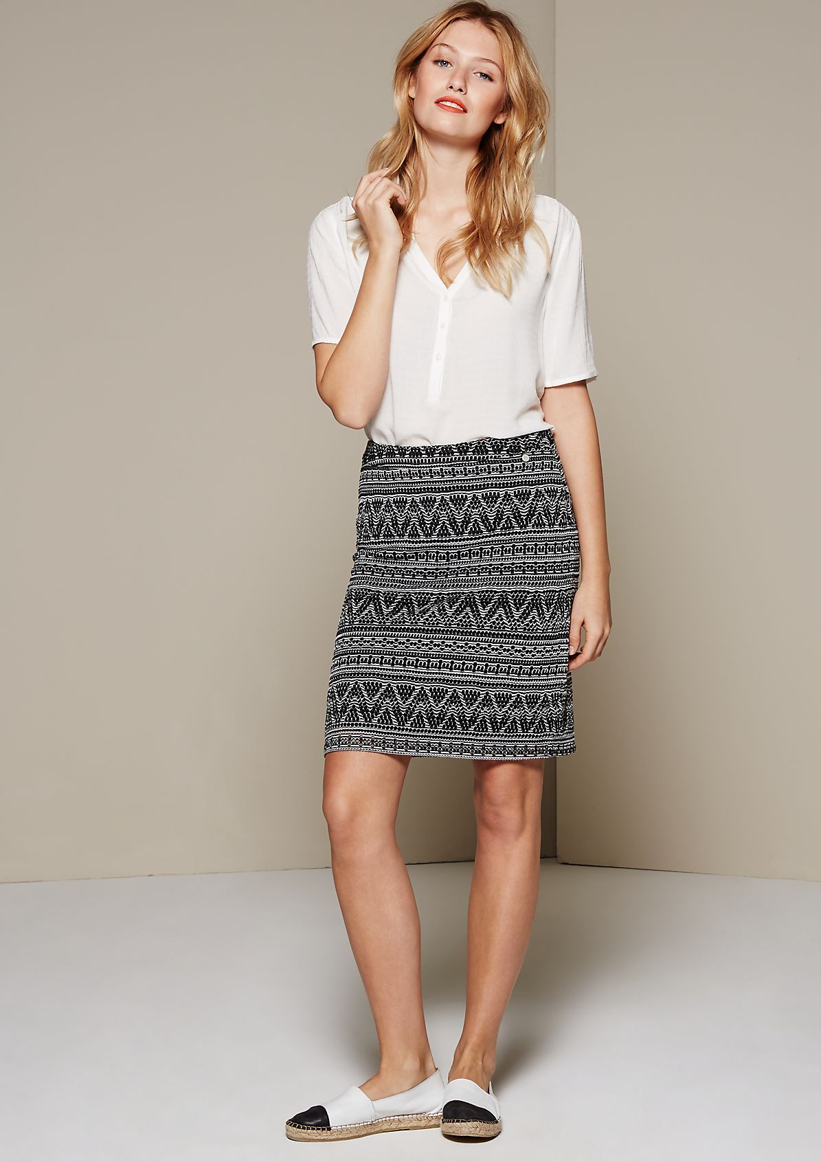 Delicate mesh skirt with an attractive openwork pattern from s.Oliver