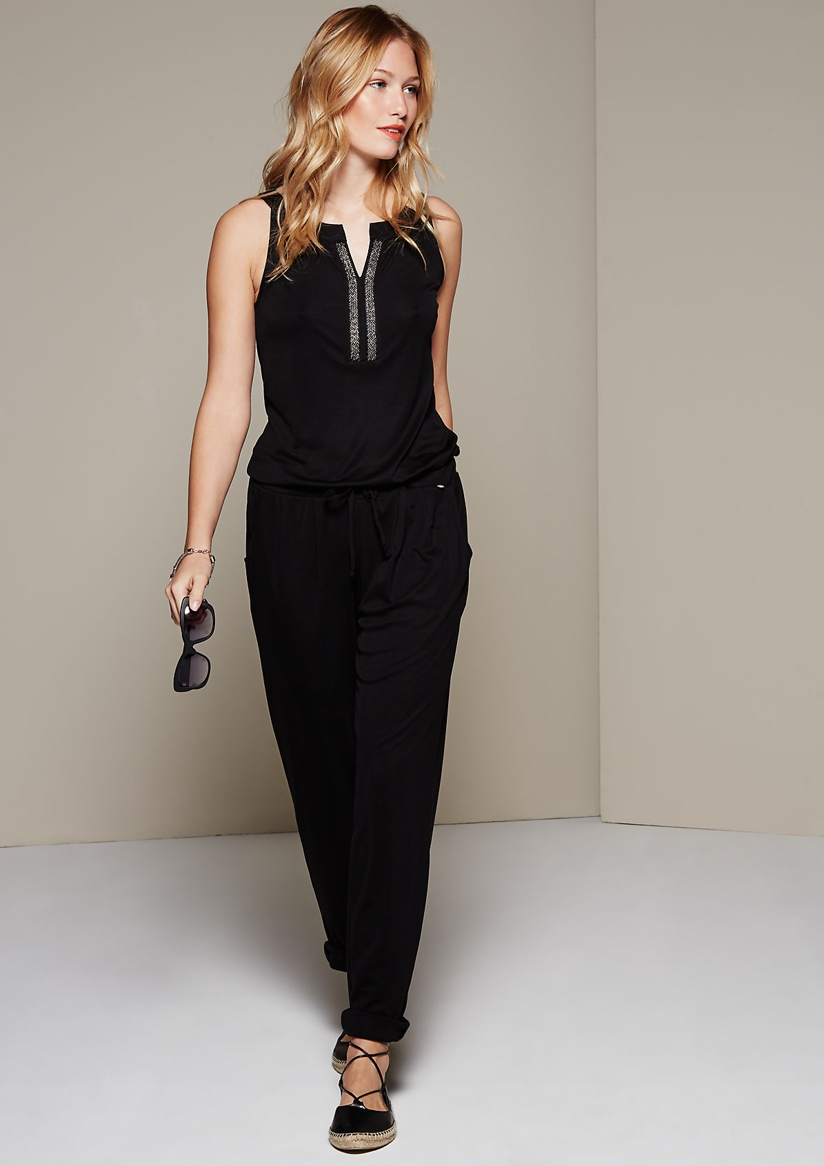 Glamorous jumpsuit with sparkly trims from s.Oliver