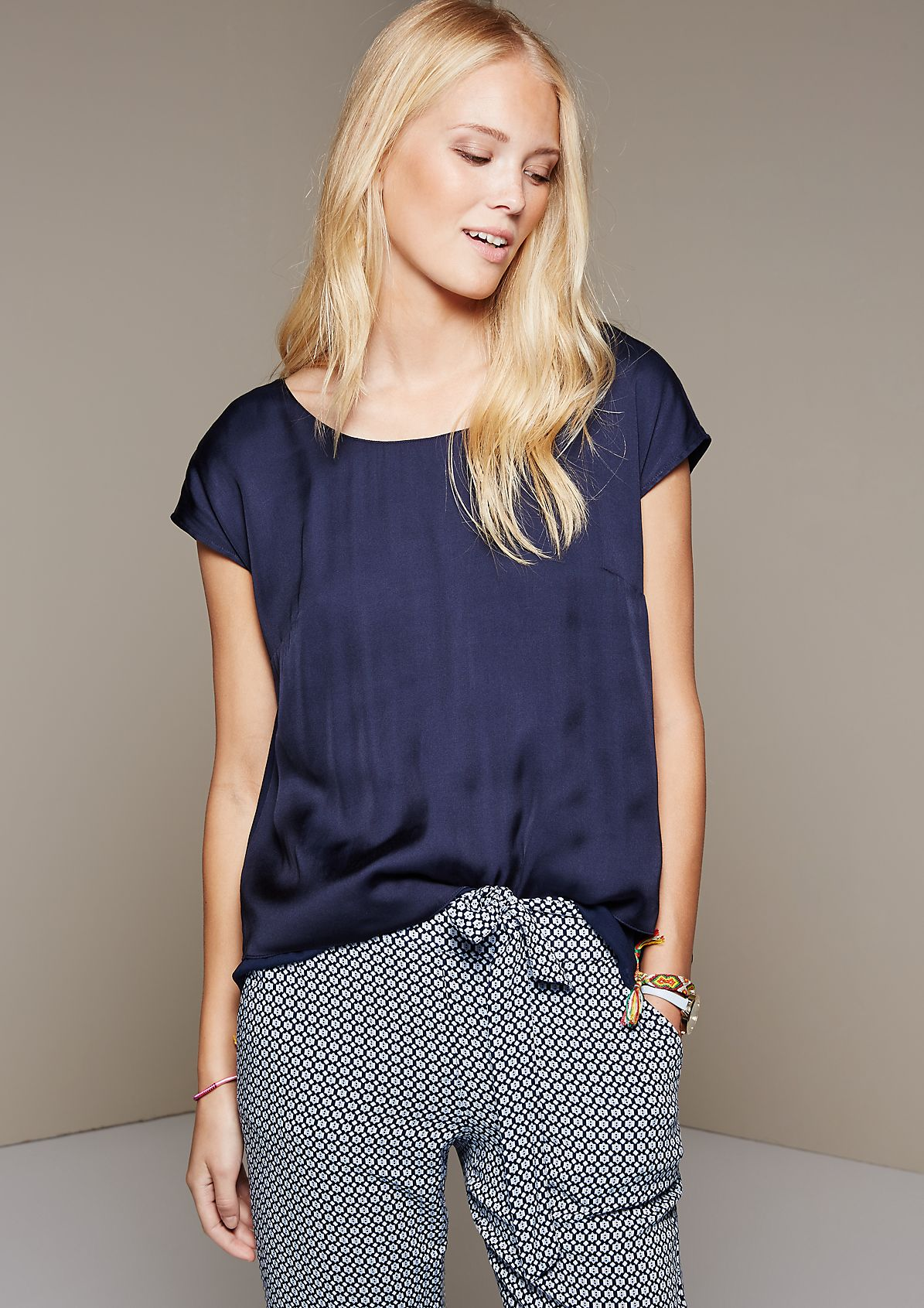 Short sleeve blouse in an attractive layered look from s.Oliver