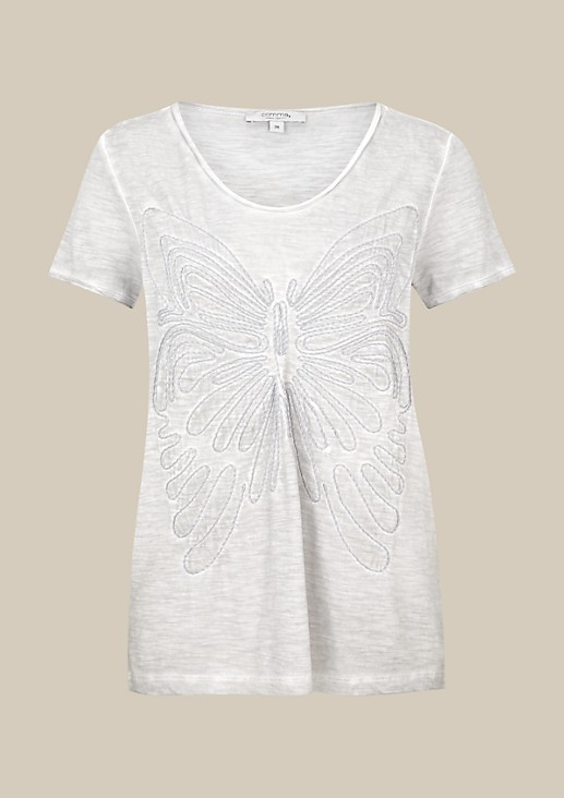 Extravagant short sleeve top with an opulent 3D pattern from s.Oliver