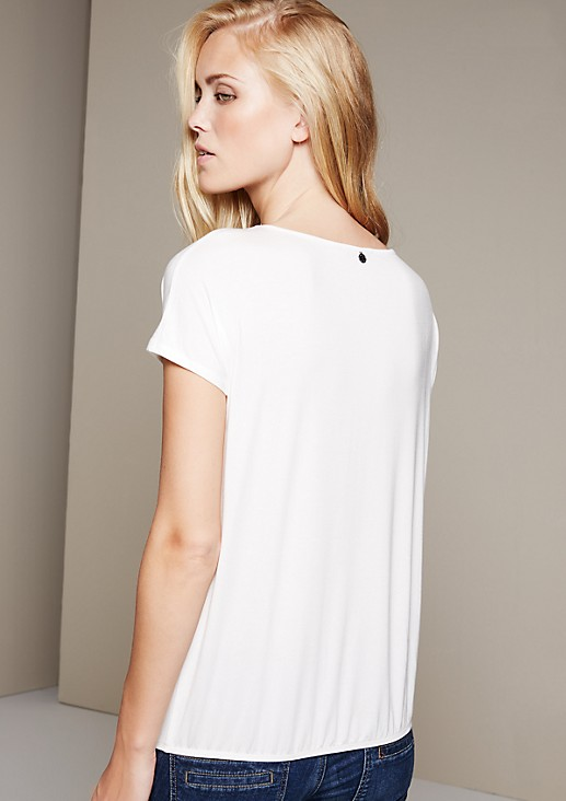 Lightweight short sleeve top with a beautiful pleated pattern from s.Oliver