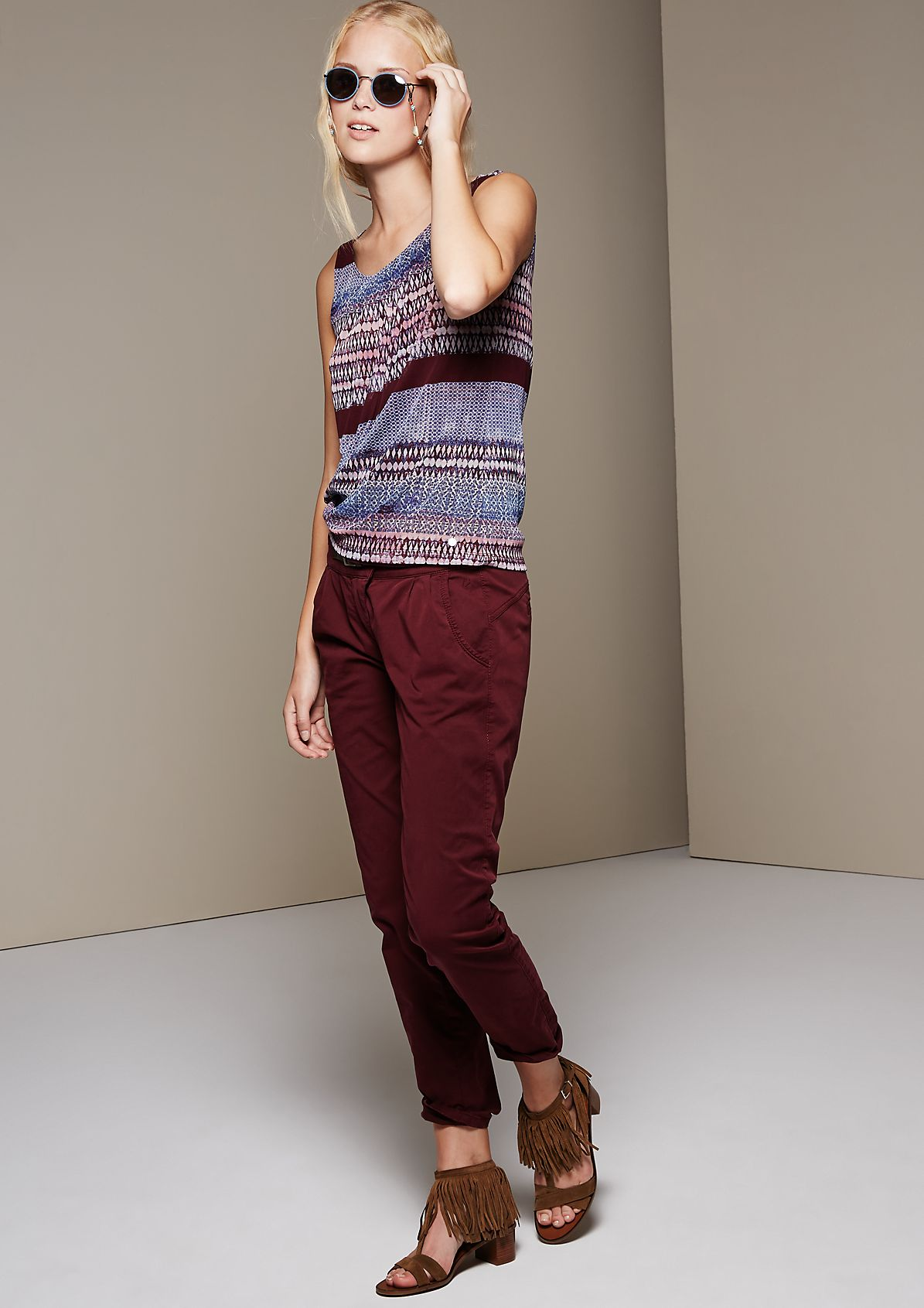 Delicate mesh top with a decorative pattern from s.Oliver