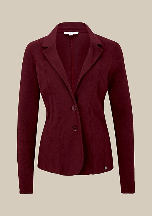 Sporty jersey blazer with a mottled finish from s.Oliver