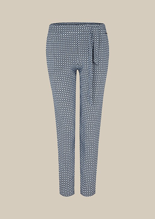 Lightweight, casual trousers with a beautiful, minimalist all-over pattern from s.Oliver