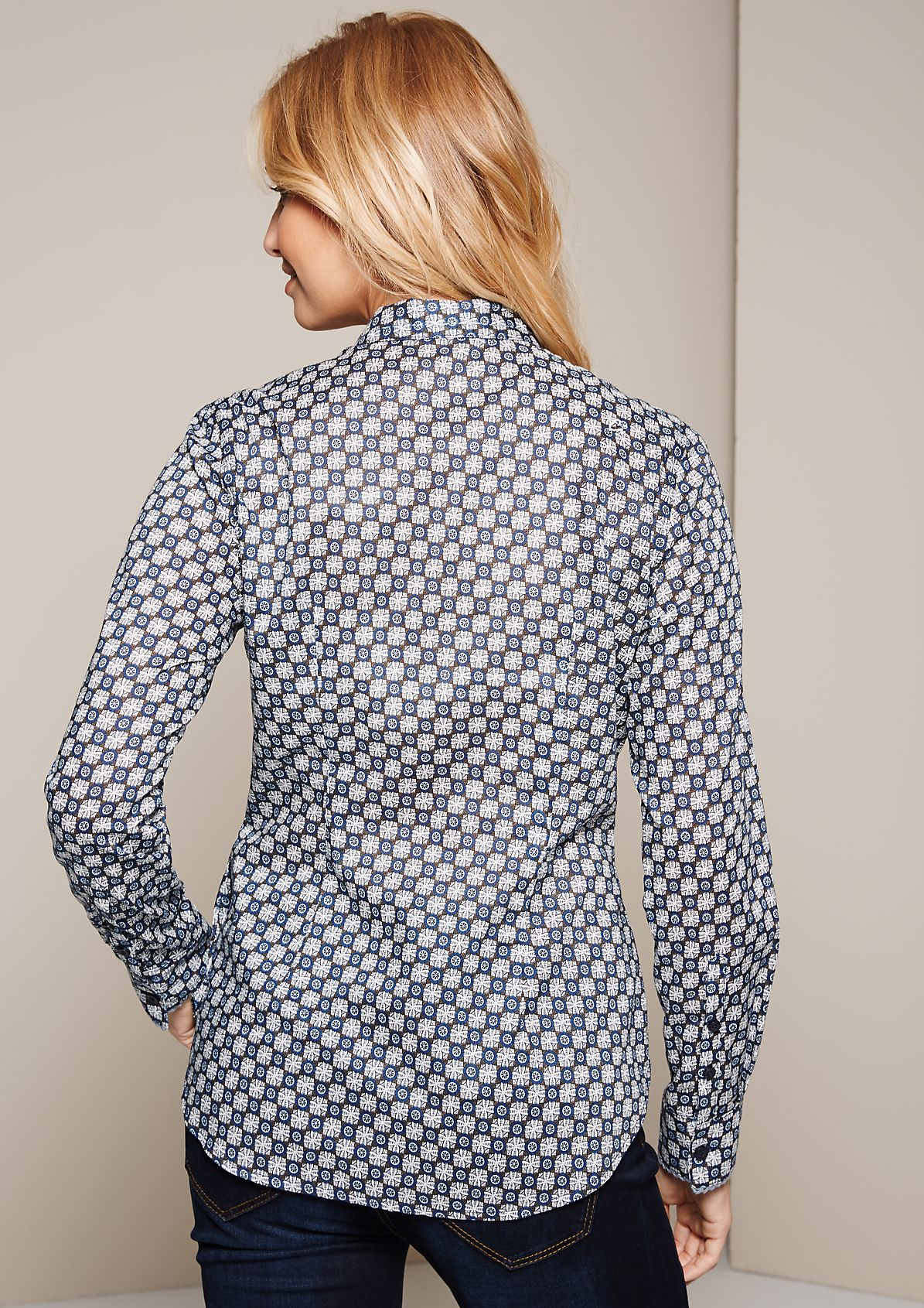 Elegant long sleeve blouse with a beautiful minimal pattern from s.Oliver