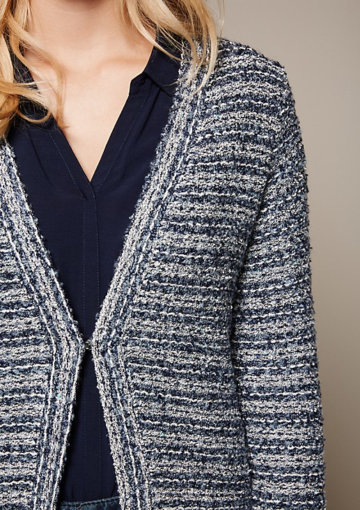 Beautiful cardigan with a sophisticated striped pattern from s.Oliver