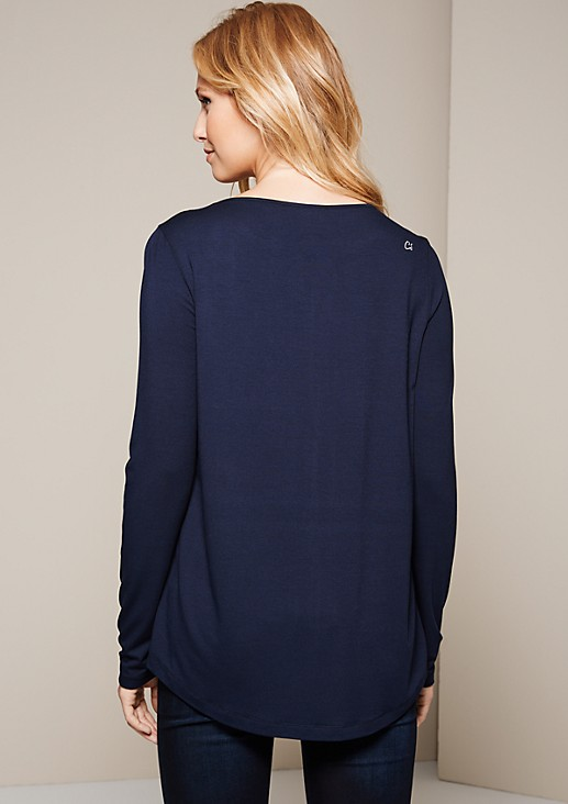 Lightweight long sleeve top in a beautiful mix of fabrics from s.Oliver