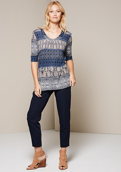 Beautiful short sleeve top with an elaborate all-over print from s.Oliver