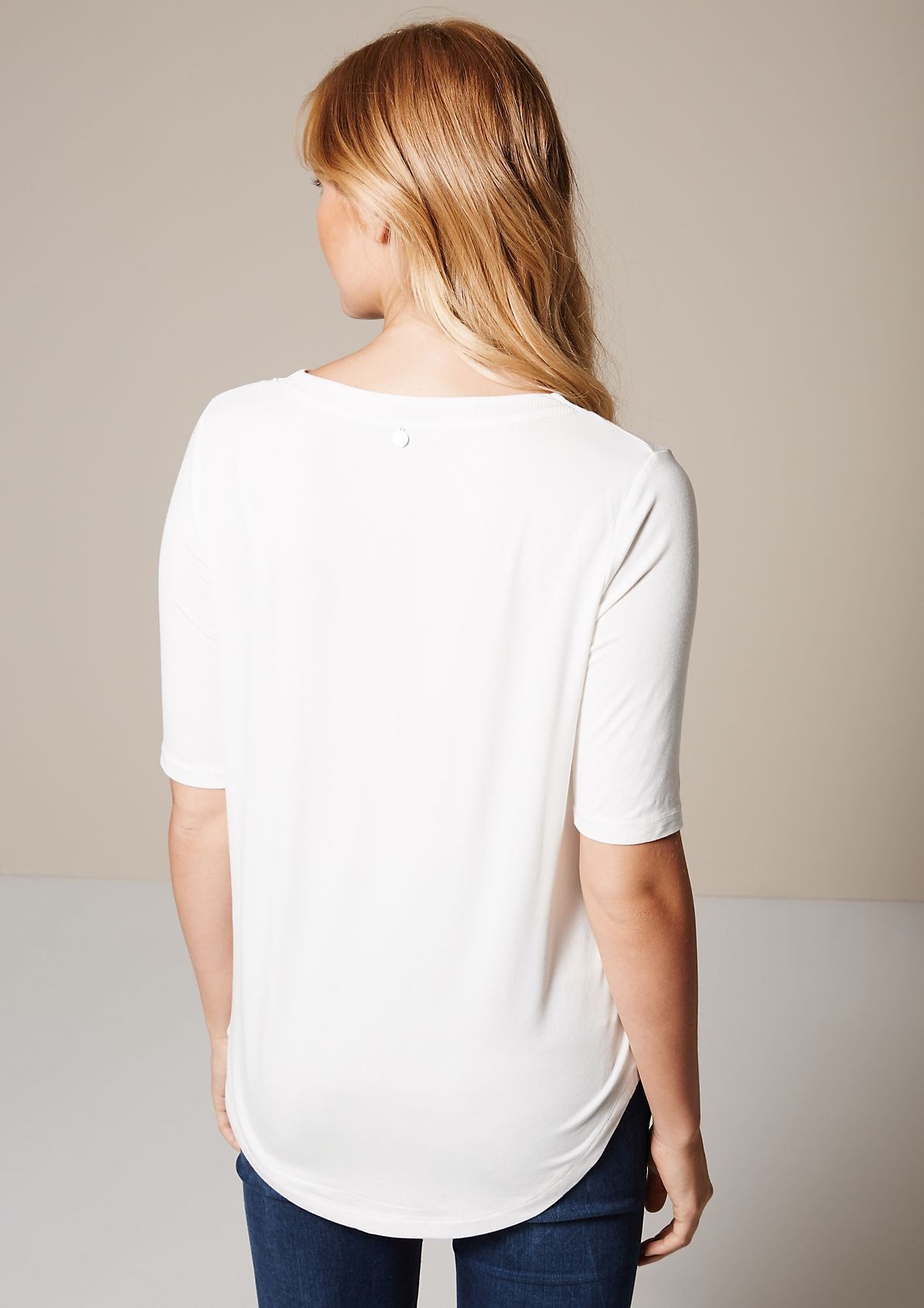 Sporty short sleeve top with beautiful details from s.Oliver