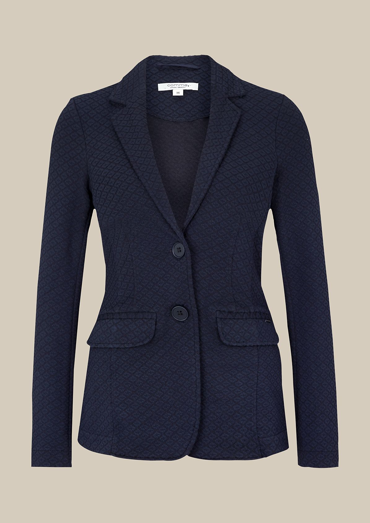 Lightweight blazer with a sophisticated jacquard pattern from s.Oliver