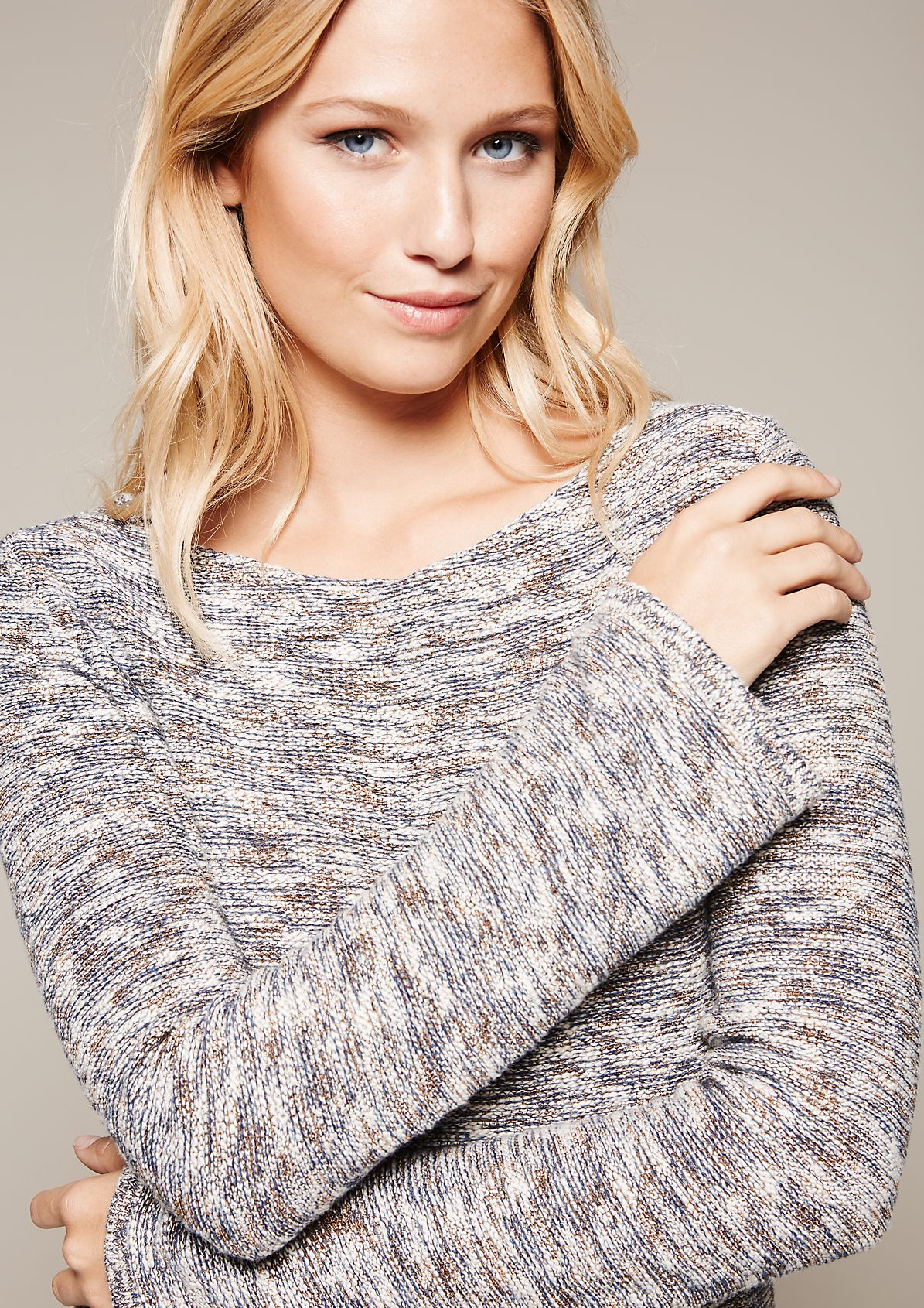 Extravagant knit jumper with a mottled effect from s.Oliver