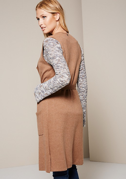 Smart long waistcoat in a soft fine knit from s.Oliver