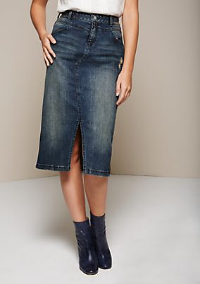 Sporty denim skirt in a vintage look from s.Oliver
