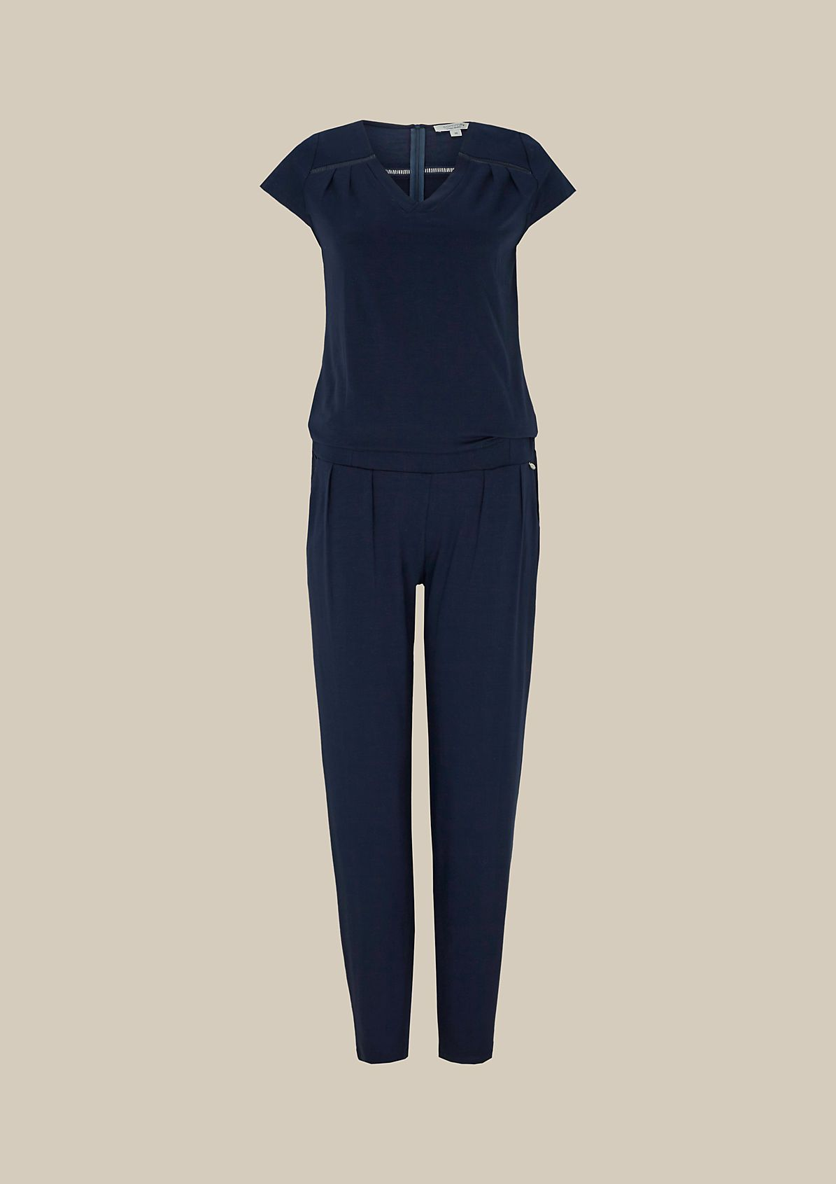 Casual jersey jumpsuit with wonderful details from s.Oliver