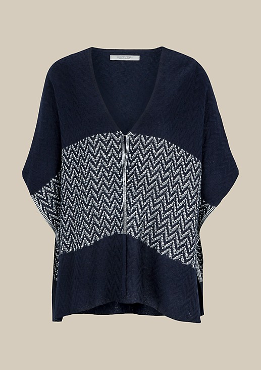 Elegant poncho with a decorative pattern from s.Oliver