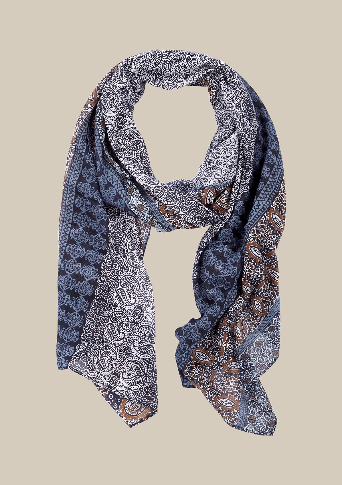 Delicate scarf with a beautiful all-over pattern from s.Oliver