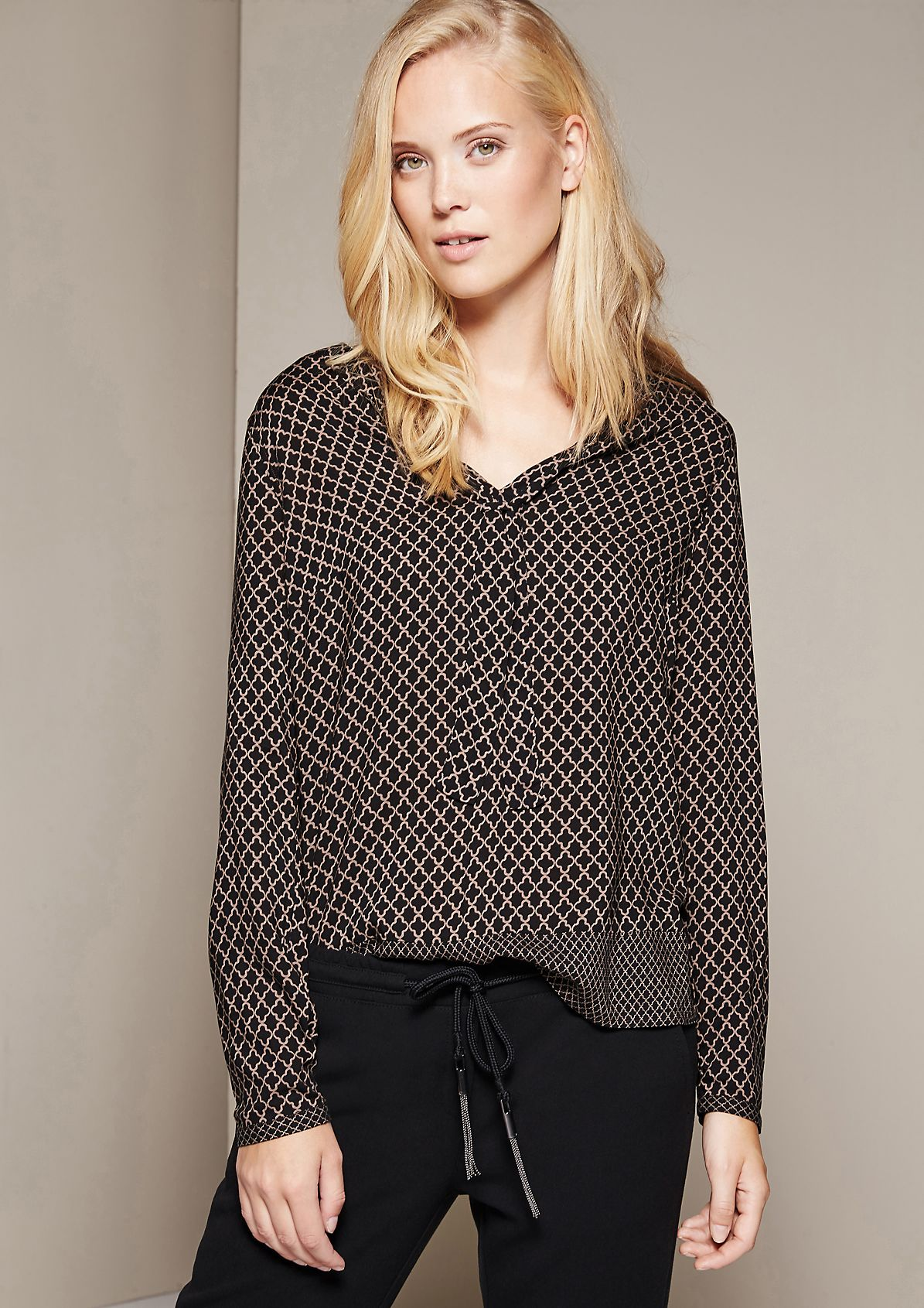 Elegant blouse with a fine pattern from s.Oliver