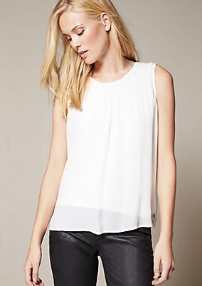 Delicate crêpe top with a shiny sequin trim from s.Oliver