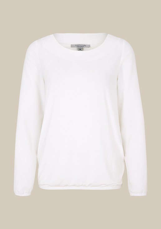 Lightweight long sleeve top in a fabric blend from s.Oliver