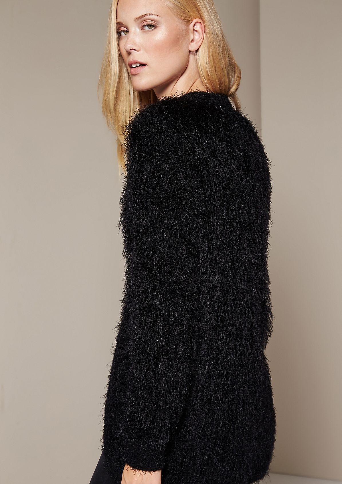 Glamorous knit cardigan in fluffy long yarn from s.Oliver