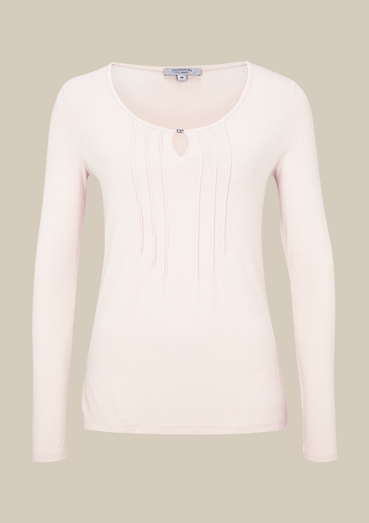 Casual long sleeve top with decorative pleats from s.Oliver