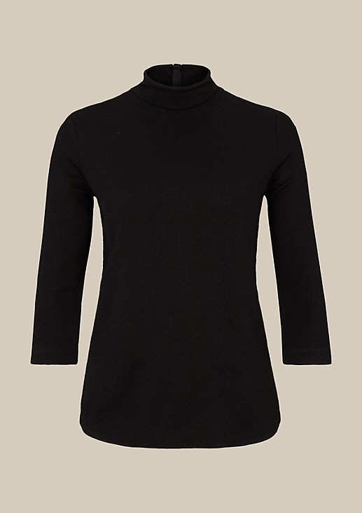 Elegant jersey top with 3/4-length sleeves and an elaborate surface texture from s.Oliver