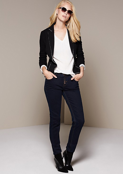 Sporty casual blazer in a vintage look from s.Oliver
