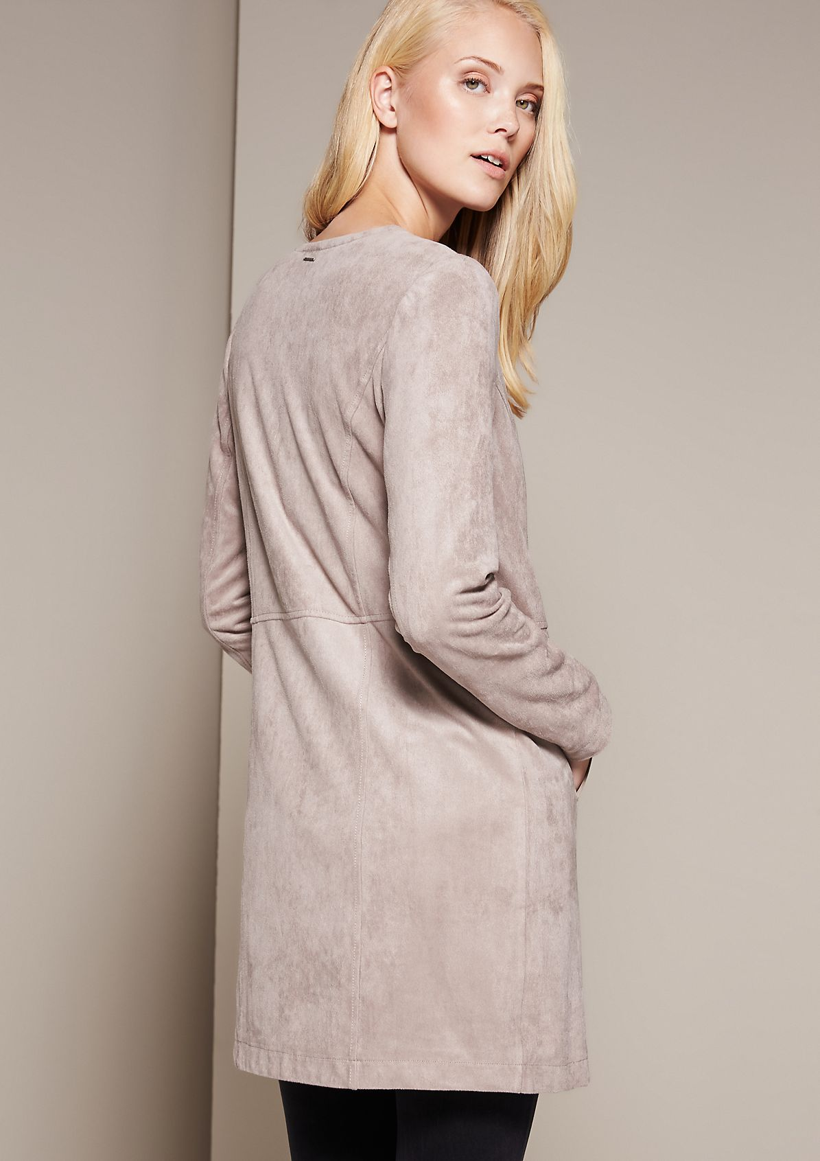 Extravagant coat in soft velour from s.Oliver