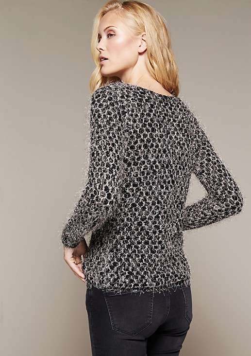 Cosy knitted jumper with interwoven long yarns from s.Oliver