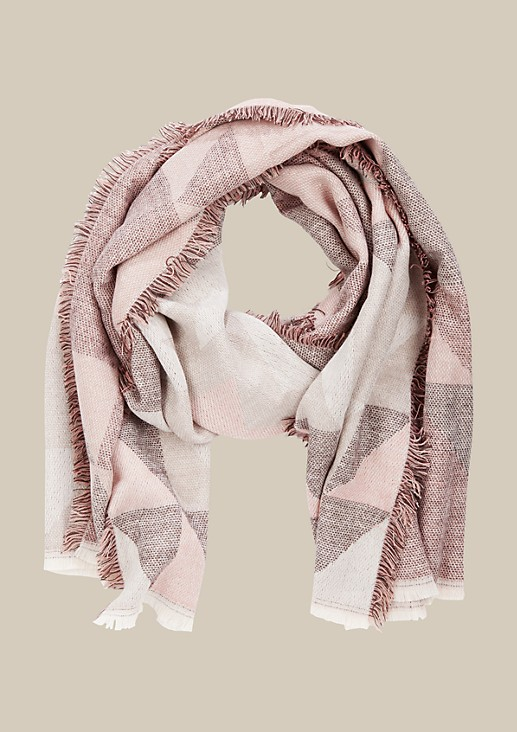 Soft knit scarf with a decorative pattern from s.Oliver