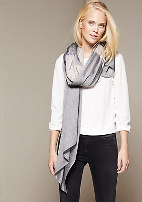Lightweight scarf with colour blocking from s.Oliver