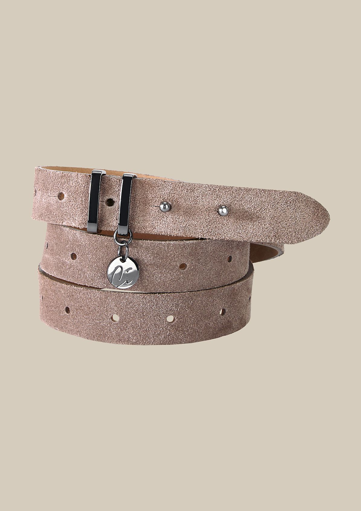 Narrow suede belt from s.Oliver