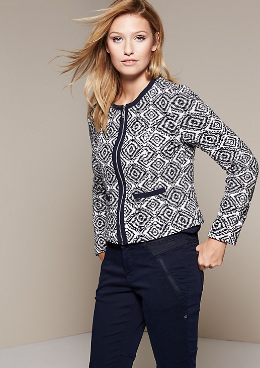 Elegant jacket with a beautiful all-over pattern from s.Oliver
