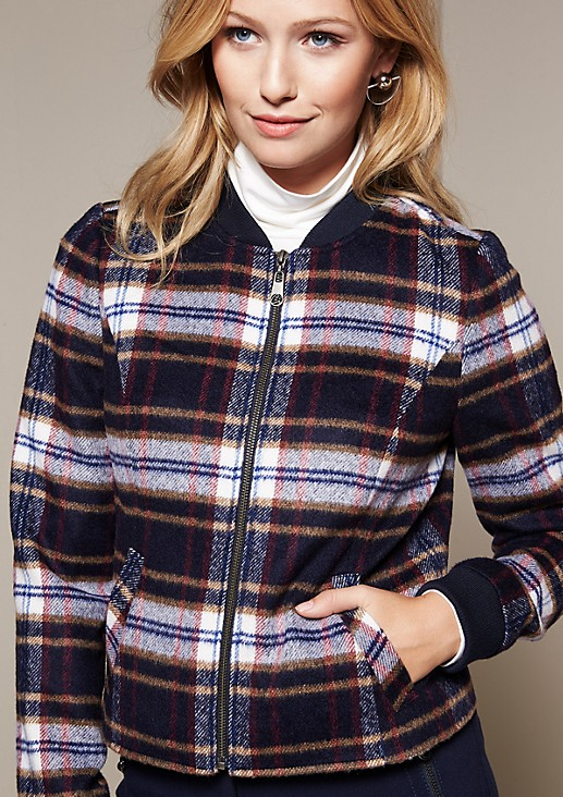 Lightweight jacket with a beautiful check pattern from s.Oliver