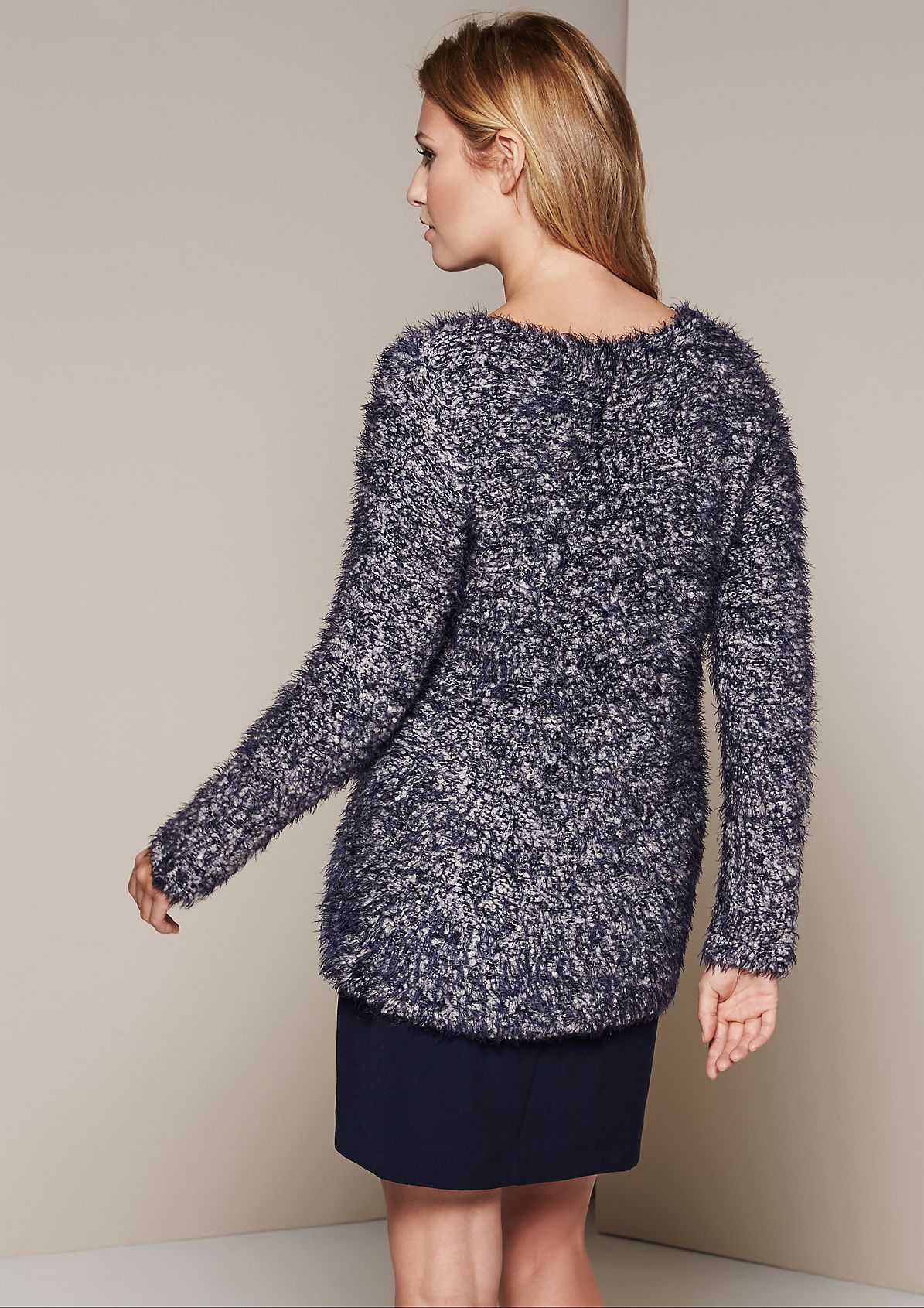 Extravagant knit jumper made of cosy two-tone long yarn from s.Oliver